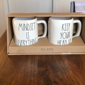 Rae Dunn MINDSET IS EVERYTHING/KEEP YOUR HEAD UP